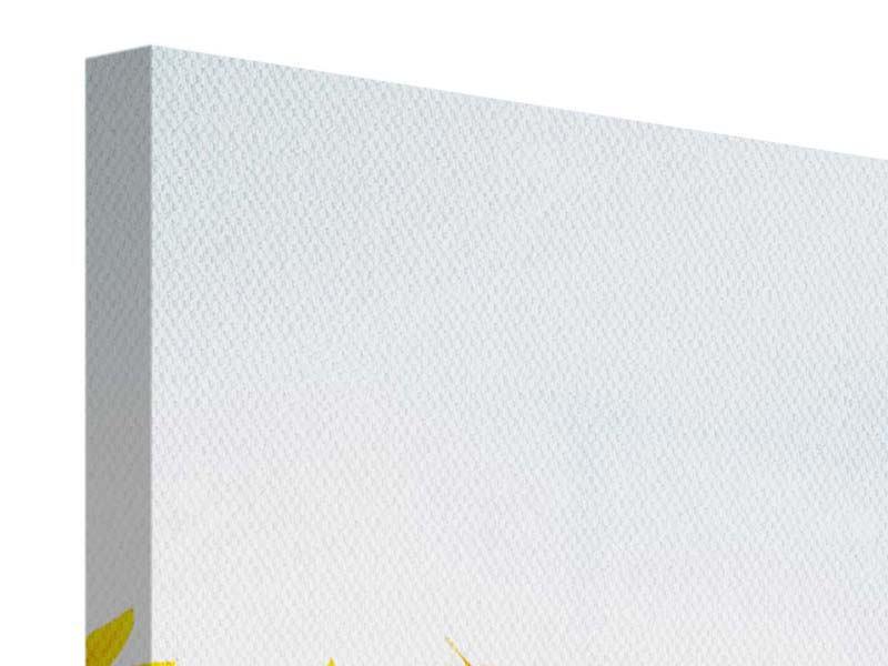 Leinwandbild 3-teilig modern Im Sonnenblumenfeld