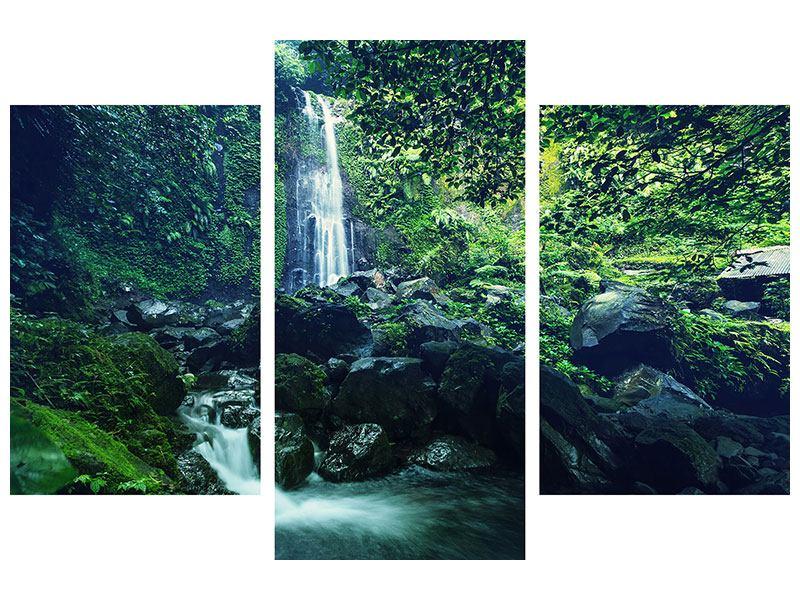 Leinwandbild 3-teilig modern Natur