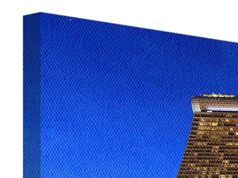 Leinwandbild 3-teilig modern Wolkenkratzer Singapur
