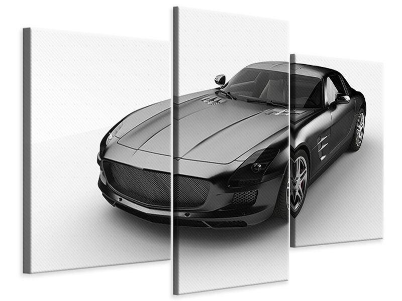 Leinwandbild 3-teilig modern 007 Auto