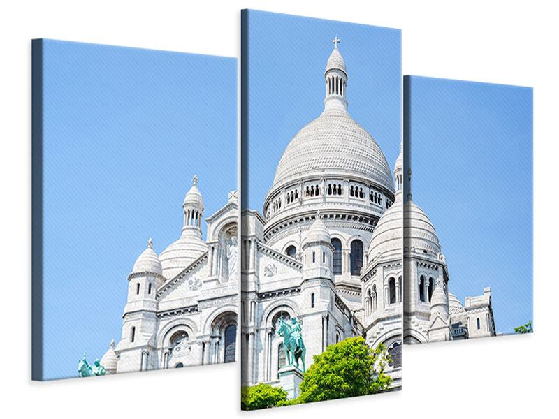 Leinwandbild 3-teilig modern Paris- Montmartre