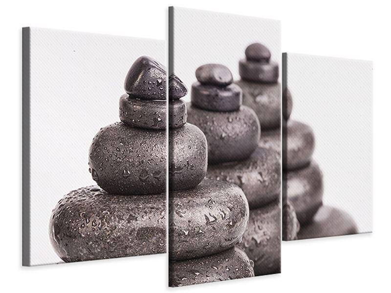 Leinwandbild 3-teilig modern Die Kraft der Steine
