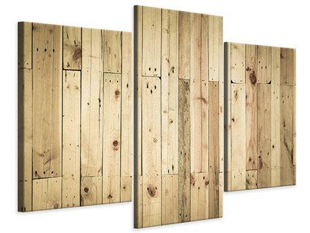 Leinwandbild 3-teilig modern Holzpaneelen