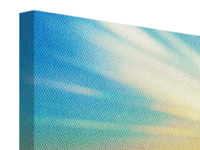 Leinwandbild 3-teilig modern Sonnenuntergang über den Wolken