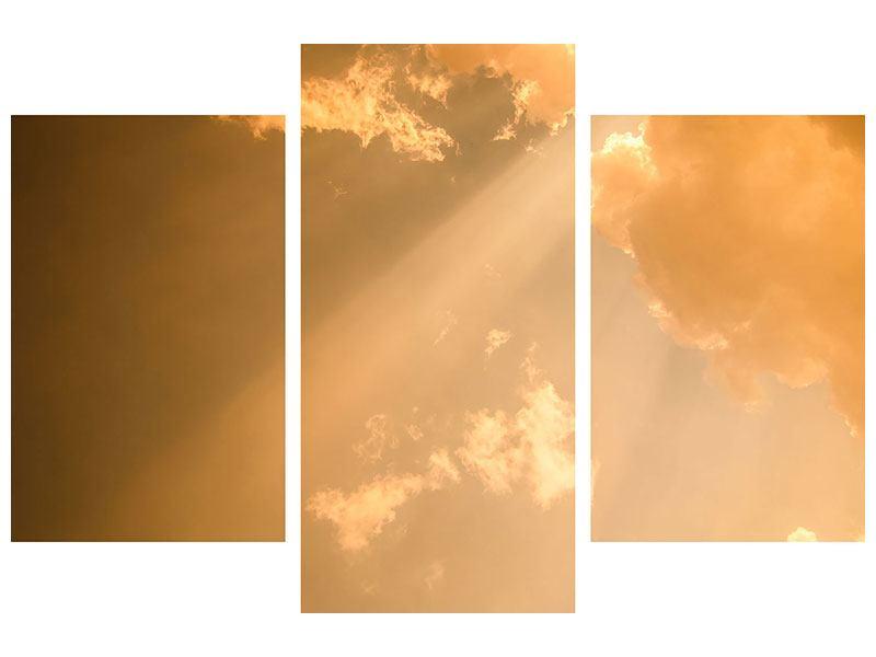 Leinwandbild 3-teilig modern Abendhimmel
