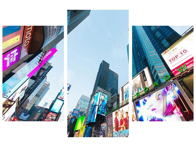 Leinwandbild 3-teilig modern Shopping in NYC