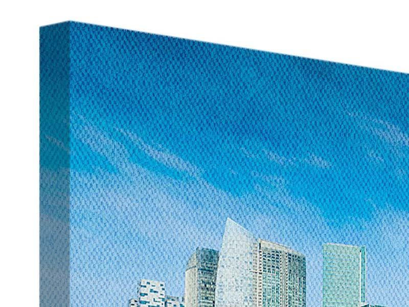Leinwandbild 3-teilig modern Skyline Mexiko-Stadt