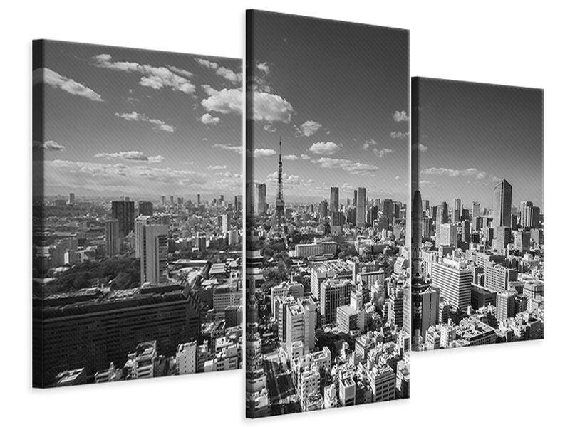 Leinwandbild 3-teilig modern Tokio