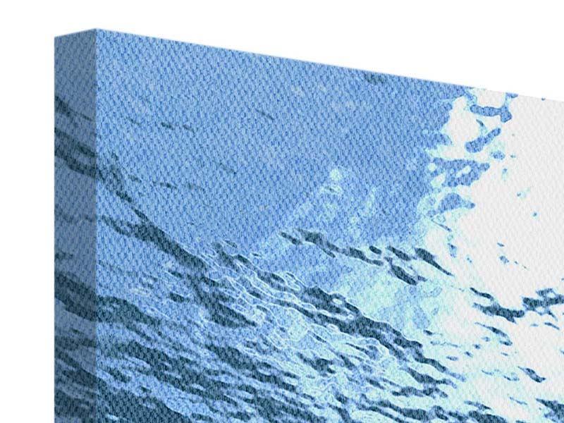 Leinwandbild 3-teilig modern Sonnenstrahlen unter Wasser