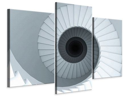 Leinwandbild 3-teilig modern 3D Wendeltreppe