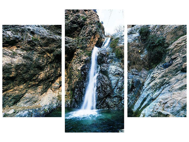Leinwandbild 3-teilig modern Bewegtes Wasser