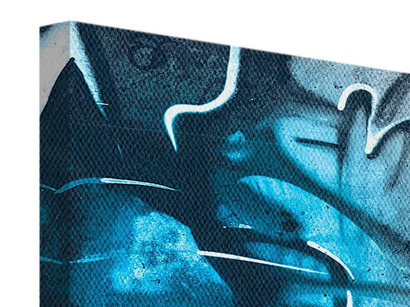 Leinwandbild 3-teilig modern Painting On The Wall