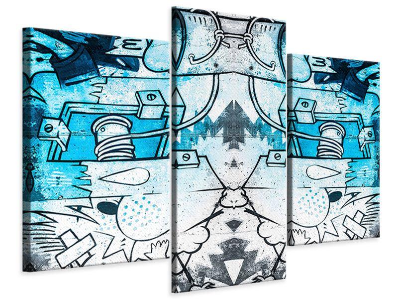 Leinwandbild 3-teilig modern Graffiti