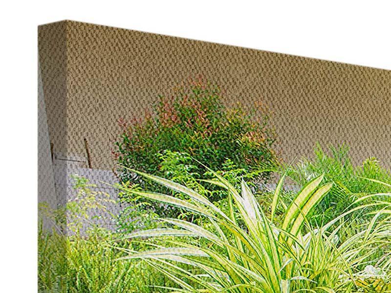 Leinwandbild 3-teilig modern Paradiesgarten
