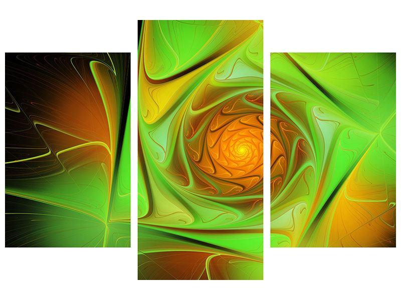 Leinwandbild 3-teilig modern Abstraktionen