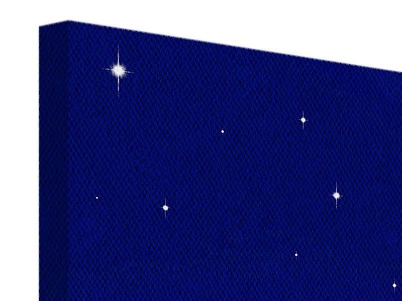 Leinwandbild 3-teilig modern Der Nachthimmel