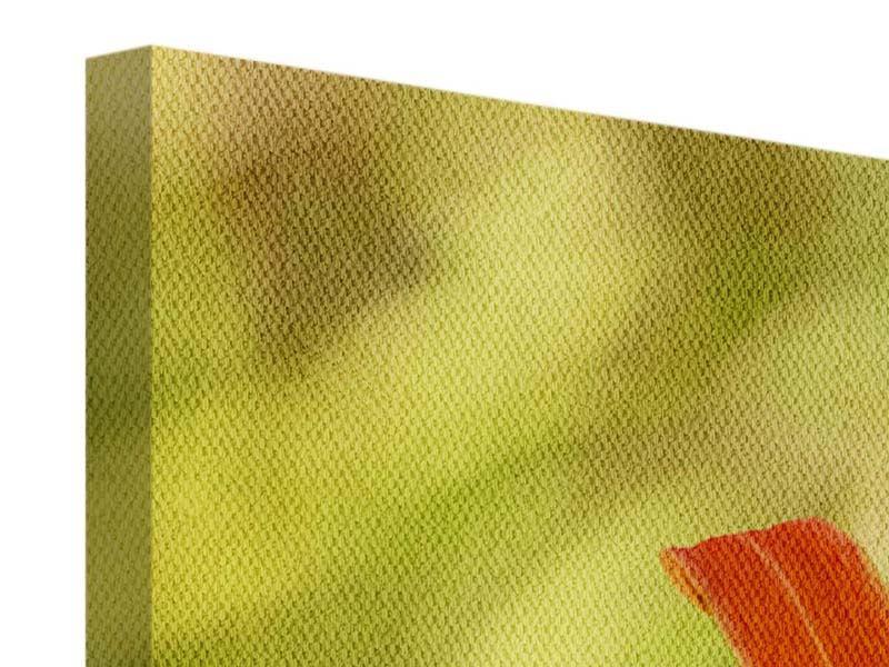 Leinwandbild 3-teilig modern Natural Lilien