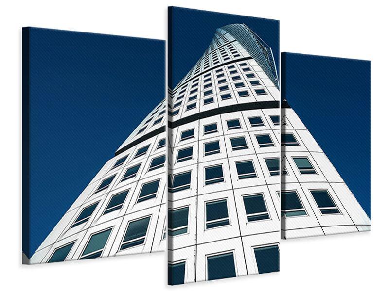 Leinwandbild 3-teilig modern Meisterstück Wolkenkratzer