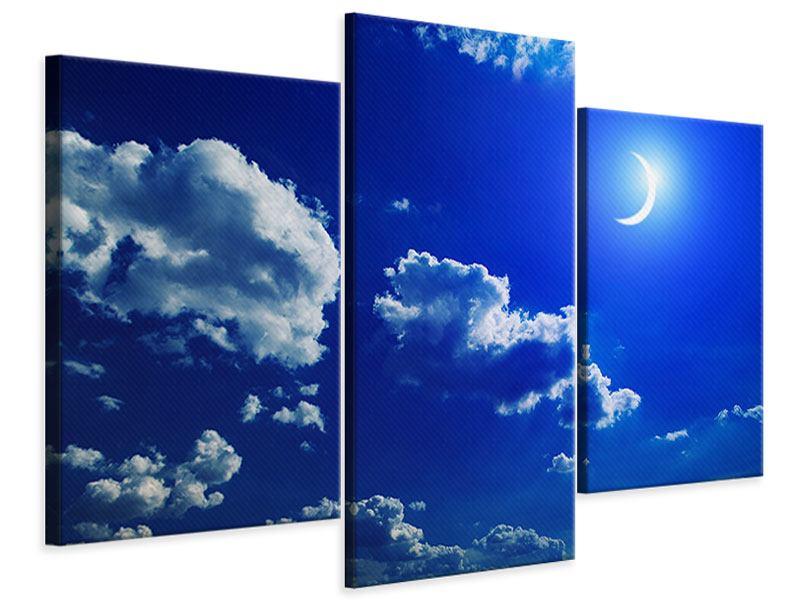 Leinwandbild 3-teilig modern Der Mond