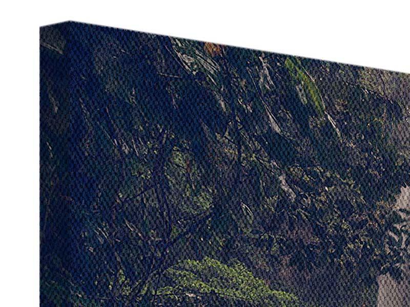 Leinwandbild 3-teilig modern Wasserfall in Mexiko