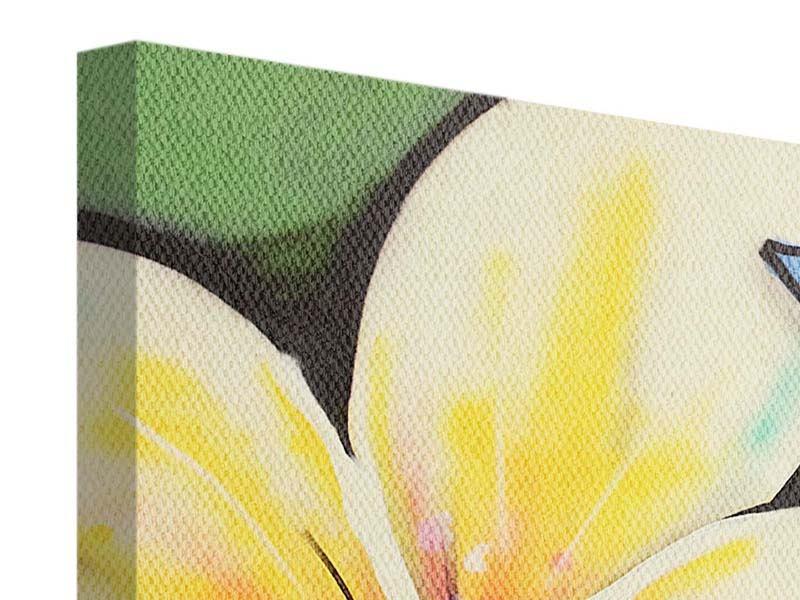 Leinwandbild 3-teilig modern Graffiti Flowers