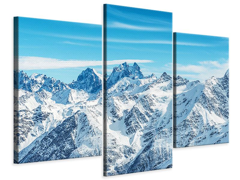 Leinwandbild 3-teilig modern Alpenpanorama