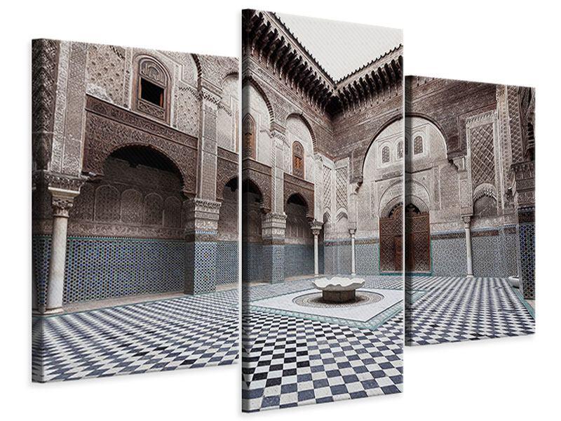 Leinwandbild 3-teilig modern Orientalischer Hinterhof