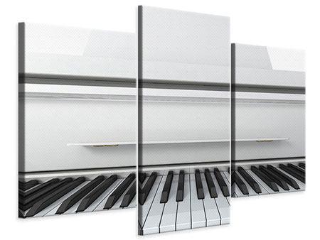 Leinwandbild 3-teilig modern Weisser Flügel