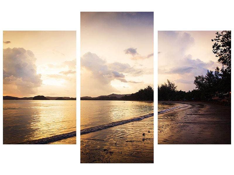 Leinwandbild 3-teilig modern Das Ufer