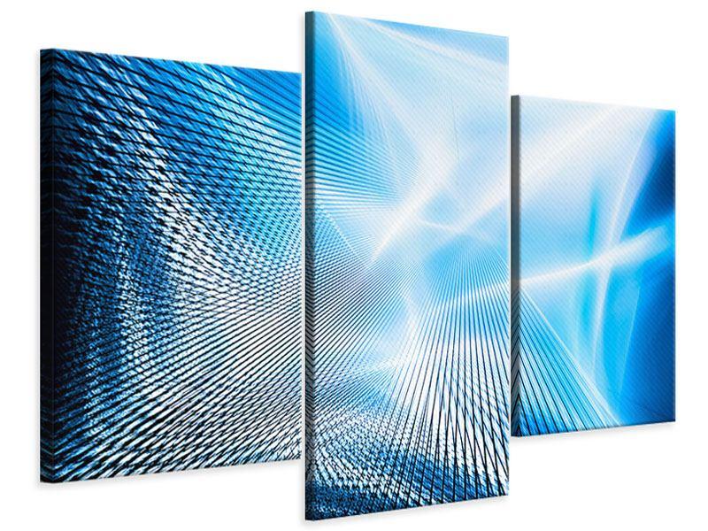 Leinwandbild 3-teilig modern Laser