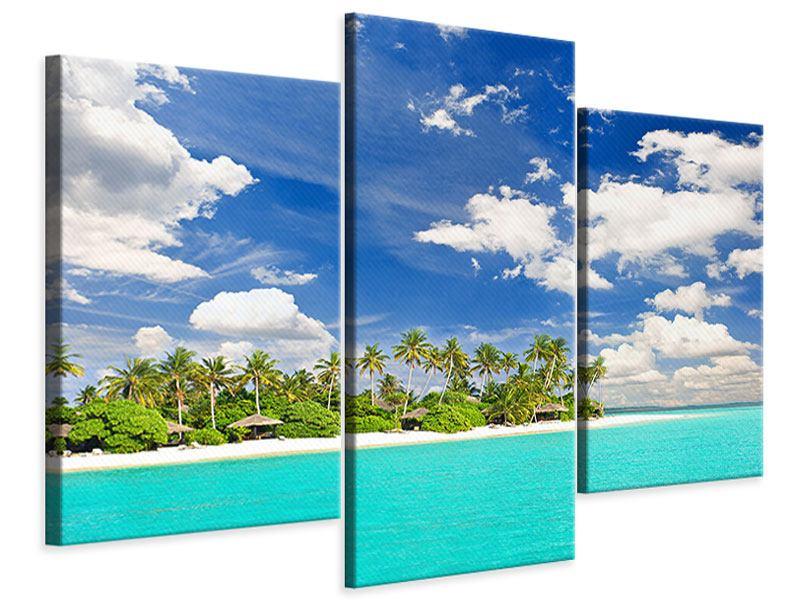 Leinwandbild 3-teilig modern Meine Insel
