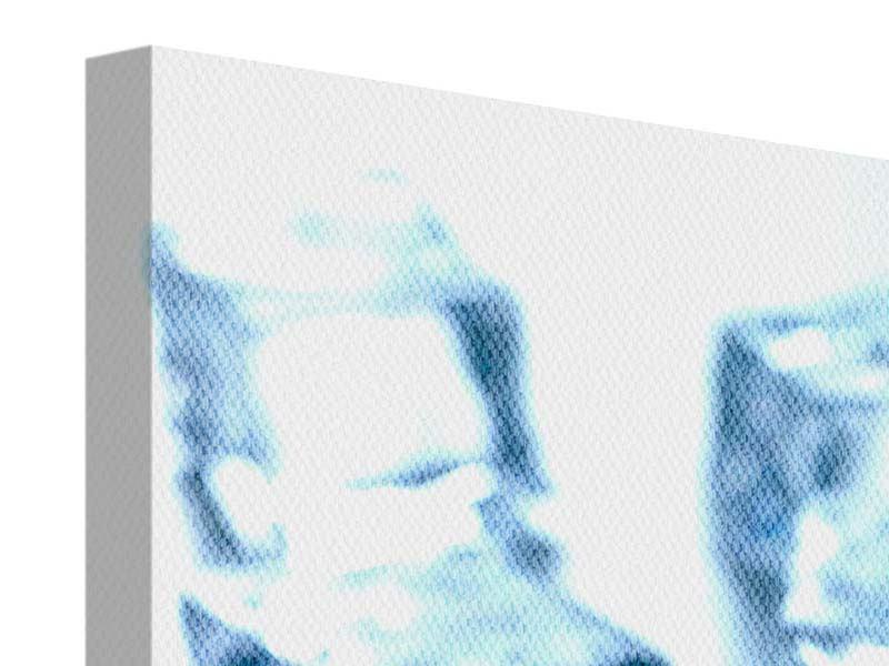 Leinwandbild 3-teilig modern Viele Eiswürfel