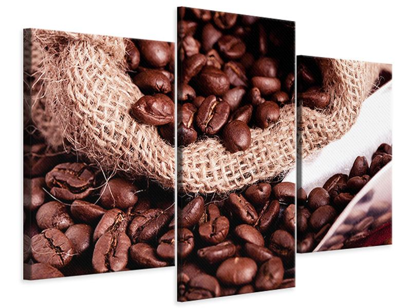 Leinwandbild 3-teilig modern XXL Kaffeebohnen