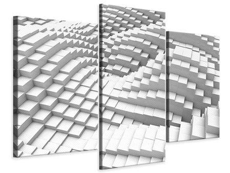 Leinwandbild 3-teilig modern 3D-Elemente