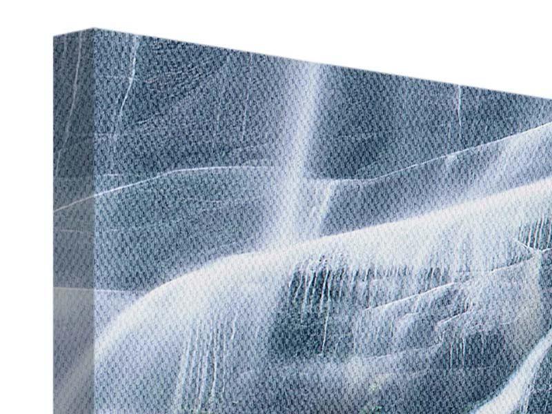 Leinwandbild 3-teilig modern Grossartiger Wasserfall