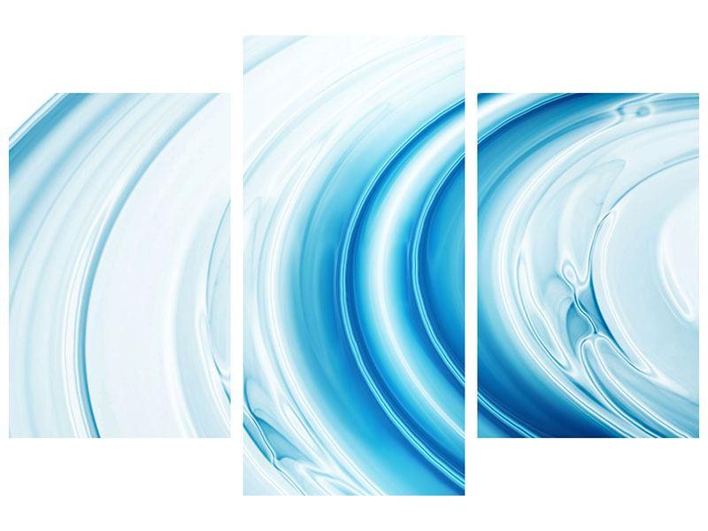 Leinwandbild 3-teilig modern Abstraktes Glas