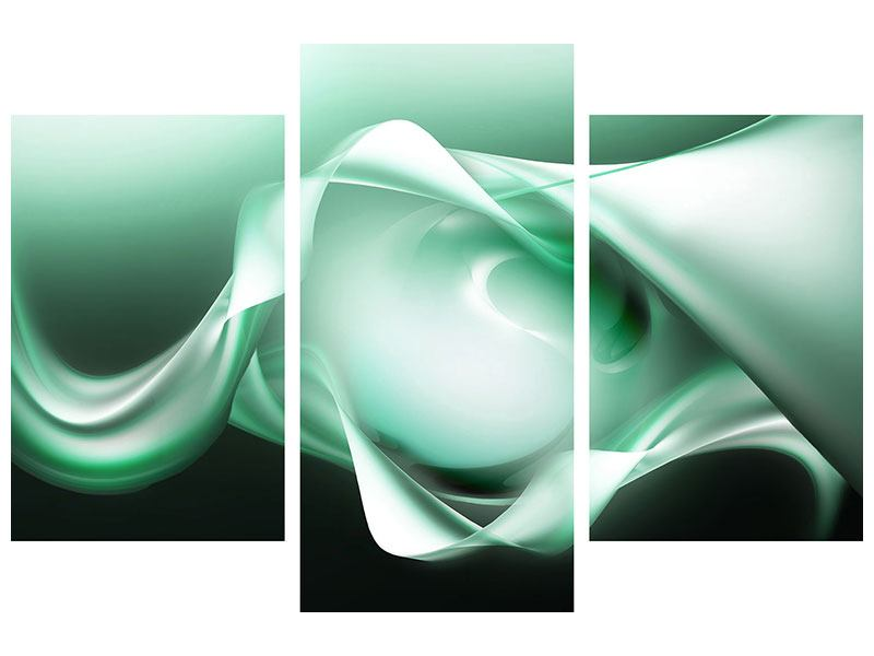 Leinwandbild 3-teilig modern Abstrakt Tuchfühlung