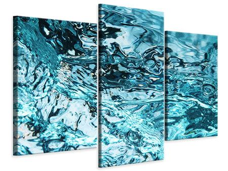 Leinwandbild 3-teilig modern Schönheit Wasser