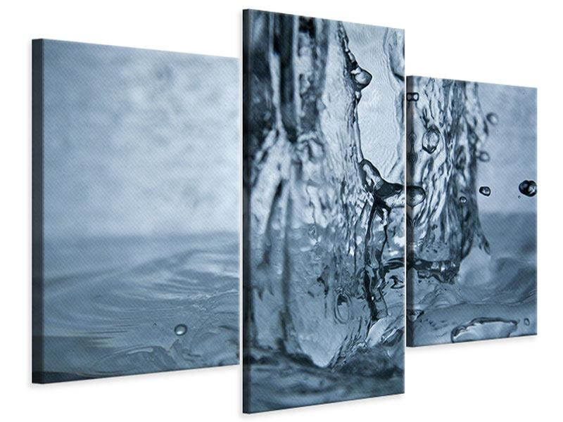 Leinwandbild 3-teilig modern Wasserdynamik