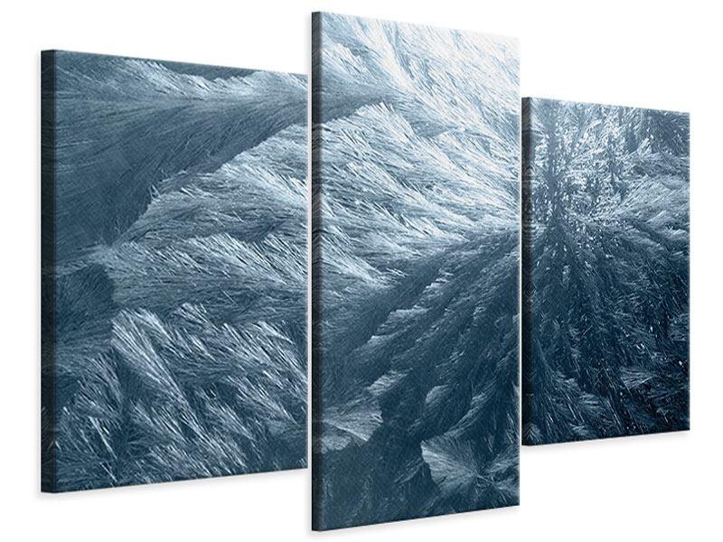 Leinwandbild 3-teilig modern Eis