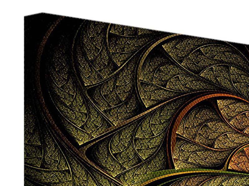 Leinwandbild 3-teilig modern Abstraktes Blumenmuster