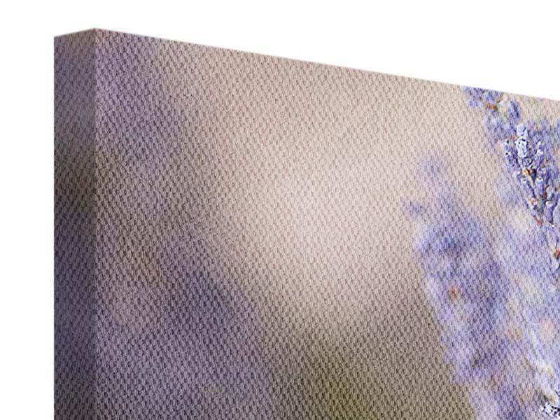 Leinwandbild 3-teilig modern Lavendel XXL
