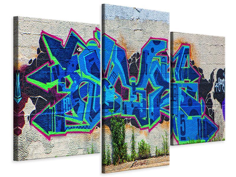 Leinwandbild 3-teilig modern Graffiti NYC
