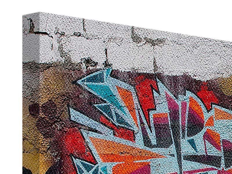Leinwandbild 3-teilig modern New York Graffiti