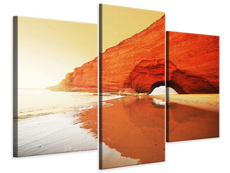 Leinwandbild 3-teilig modern Wasserspiegelung