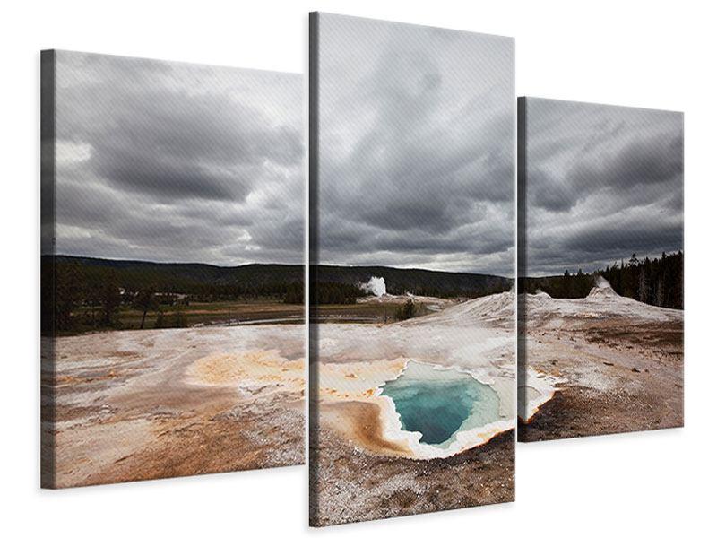 Leinwandbild 3-teilig modern Vulkan