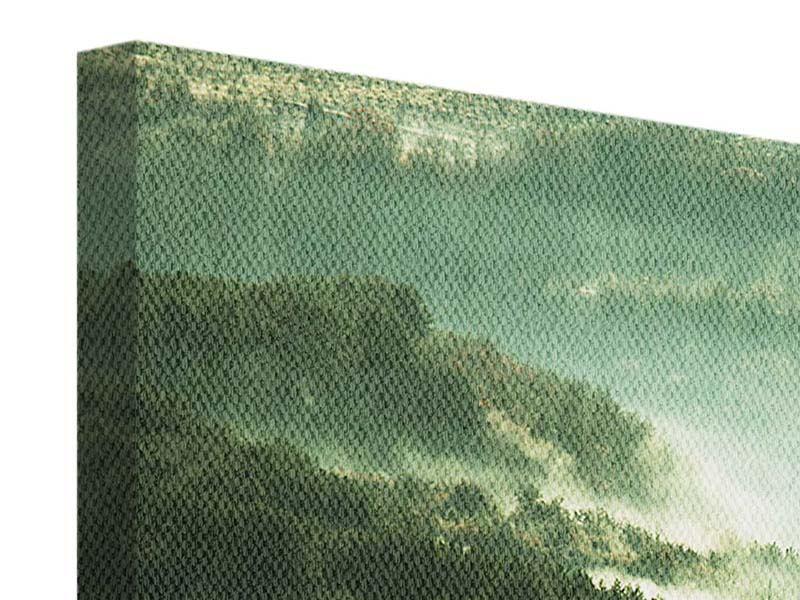 Leinwandbild 3-teilig modern Über den Wäldern