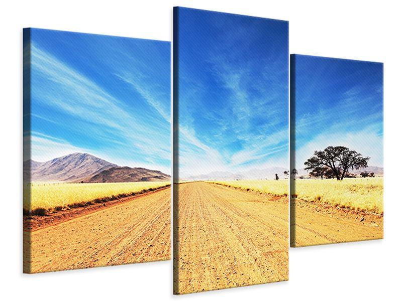 Leinwandbild 3-teilig modern Eine Landschaft in Afrika
