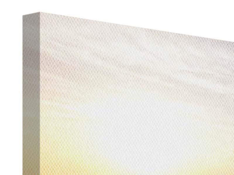 Leinwandbild 3-teilig modern Das gestrandete Boot
