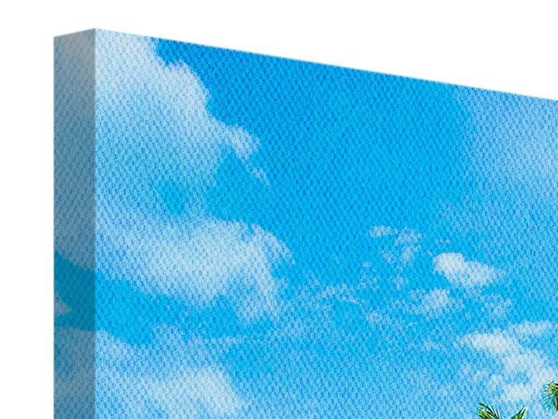 Leinwandbild 3-teilig modern Reif für die Ferieninsel
